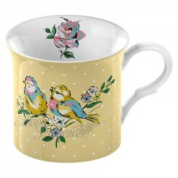 Porcelánový hrnek Yellow Bird 8x8cm 5130545